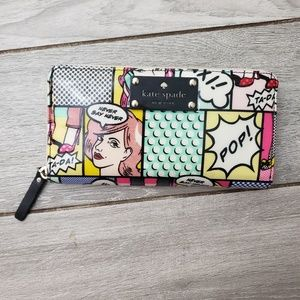 KATE SPADE LACEY DAYCATION COMIC ZIP AROUND WALLET